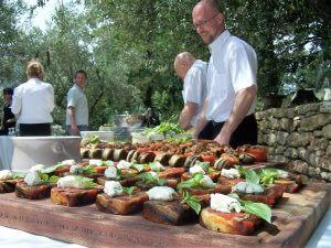 buffet en plein air